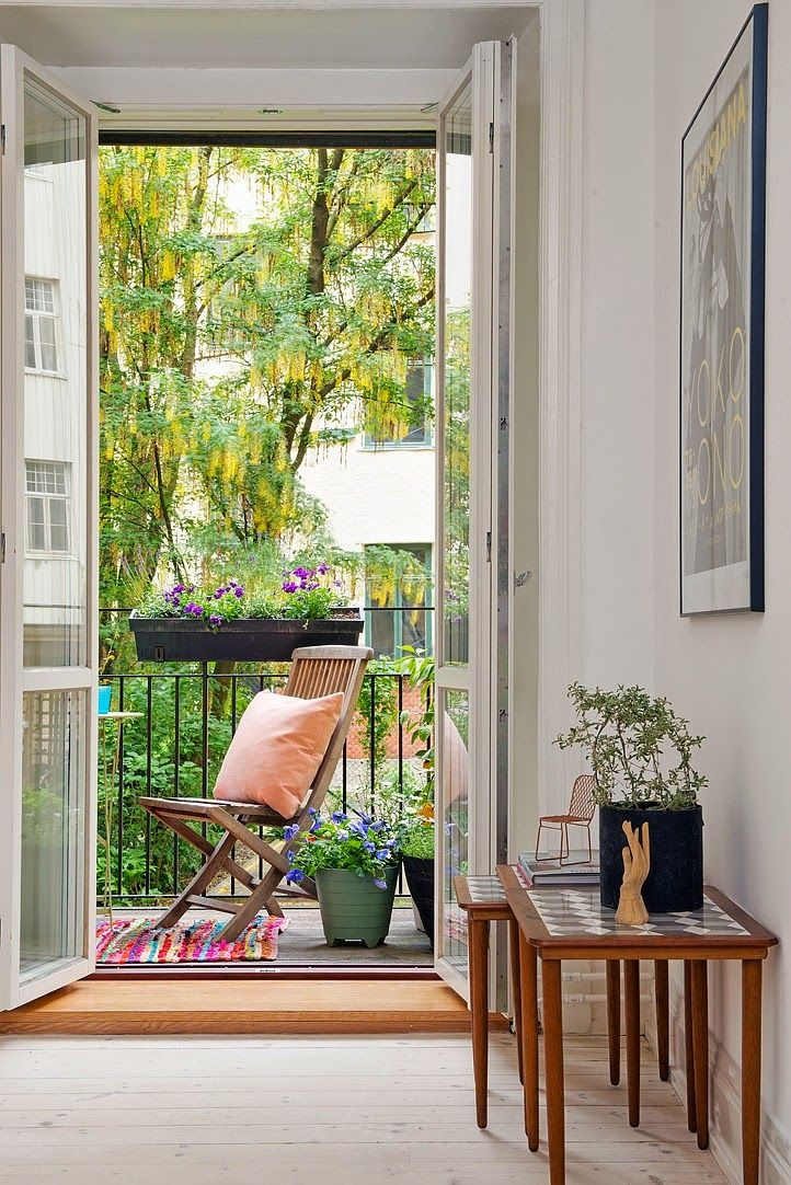 my scandinavian home: A touch of colour in a light and airy Swedish home