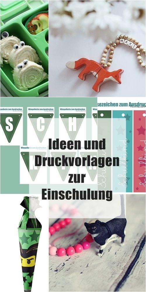 Ideen und Druckvorlagen zur Einschulung, DIY Geschenke zur Einschulung