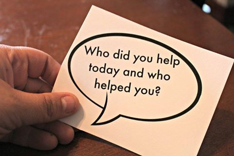 Who did you help today and who helped you?  #question #thought #oftheday #love #care #friends #family #neighbor