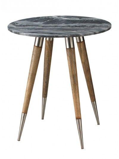 Large Owen Side Table Grey Marble Jy