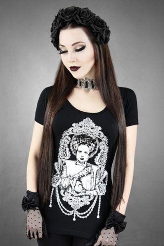 Restyle-T-Shirt-Frankensteins-Braut-Monster-Bride-Horror-Gothic-Steampunk-RS12