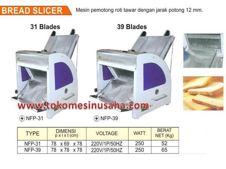Mesin Pemotong Roti adalah mesin yang digunakan untuk memotong roti tawar sehingga mendapatkan hasil roti yang sama lebar. Dengan mesin ini akan memudahkan anda untuk memotong roti dengan cepat dan hasil maksimal.