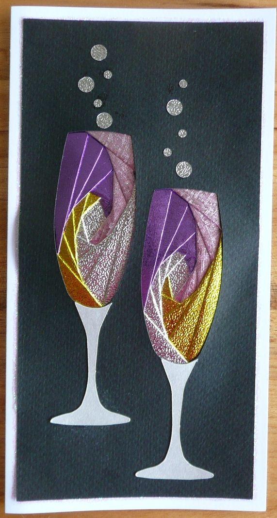 Gabby S Garden Iris Folding Champagne Glasses Iris Folding Iris Folding Pattern Iris Folding Templates