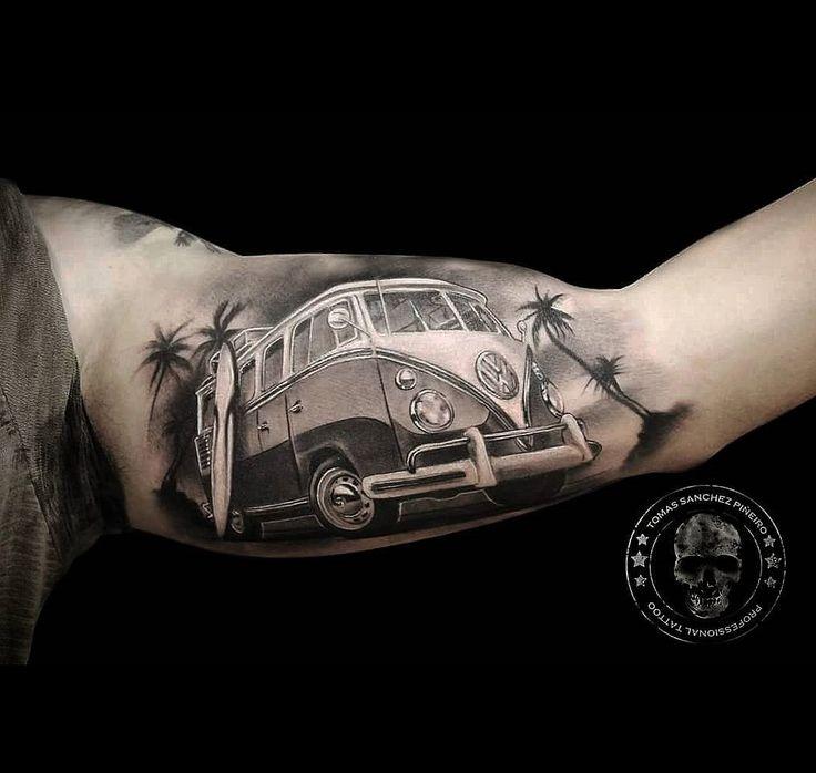 VW Camper Inner Bicep Tattoo http://tattoo-ideas.com/surfs-up/