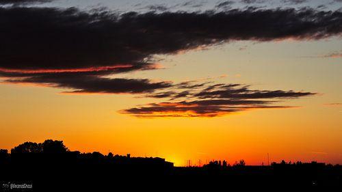 Rimini Sunset silhouettes
