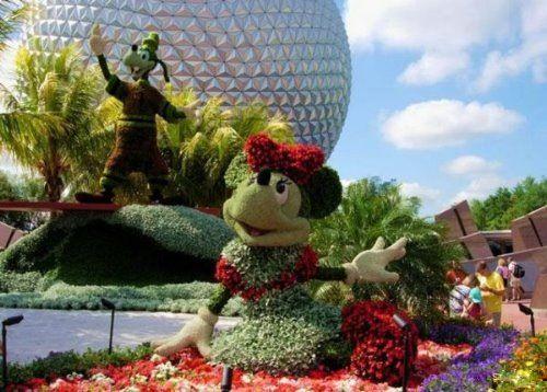 Disney plant sculptures #eccosmile #sculptured65
