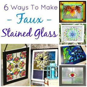 6 ways to make faux stained glass