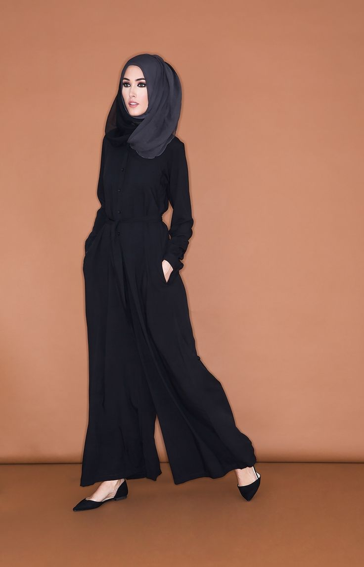 Simply Black Jumspuit | Aab