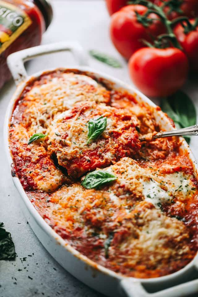 Eggplant Parmesan - A classic Italian baked Eggplant Parmesan prepared with eggplants, tomato sauce, and cheese!