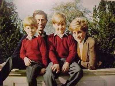 Diana, Prince Charles, Harry and William