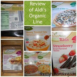 Review of Aldi's Organic Line