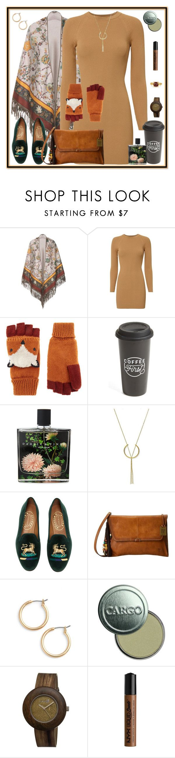 """""""Gear Up For Friday"""" by winscotthk ❤ liked on Polyvore featuring Loro Piana, A.L.C., Accessorize, The Created Co., Nest Fragrances, FOSSIL, Stubbs & Wootton, Frye, Nordstrom and CARGO"""