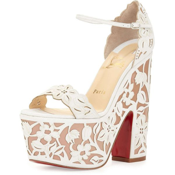 Christian Louboutin Houghton Platform Red Sole Sandal found on Polyvore