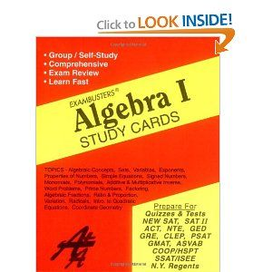Ace's Algebra 1 Exambusters Study Cards (Ace's Exambusters) by Ace Academics. Save 10 Off!. $11.65. Publisher: Ace Academics (February 15, 2007)
