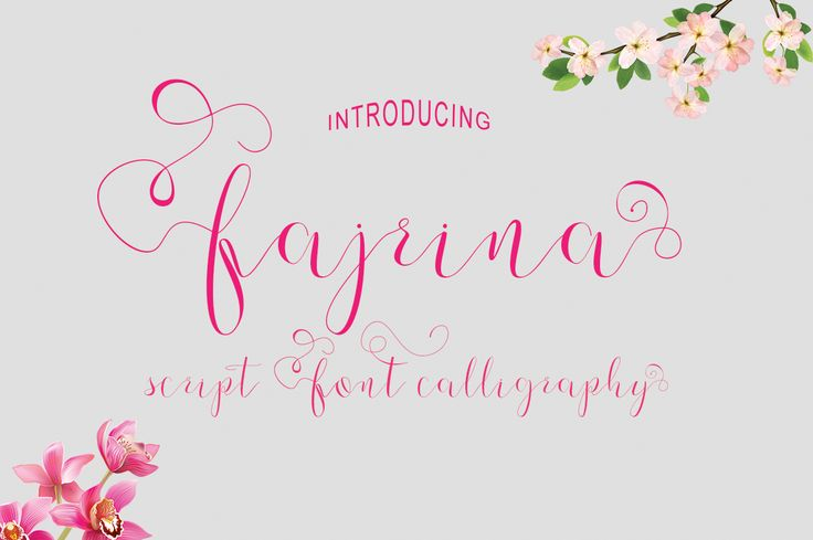 Fajrina Script is a completely FREE exclusive font from Fontbundles.net - Enjoy#free #font #lettering #type #typeface -partner link