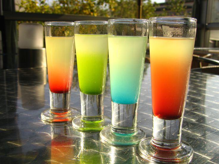 colorful drinks | colorful shots golden cadillac margarita azul martini colorful ...