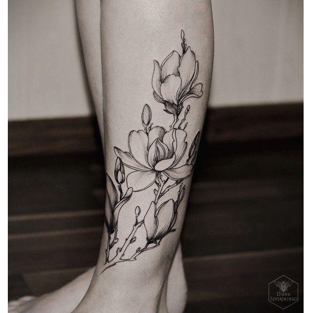 Flower Tree Tattoo: Best 25+ Magnolia Tattoo Ideas On Pinterest