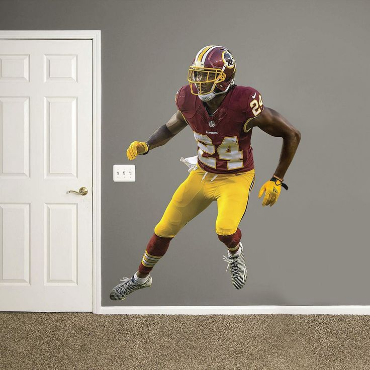 Washington Redskins Josh Norman Real Big Wall Decal by Fathead, Multicolor