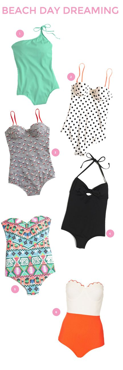 I usually don't like one piece swim suits but these are absolutely adorable.