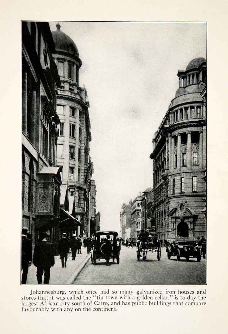 1924 Print Johannesburg South Africa Cityscape Historic Automobile Street XGBC4