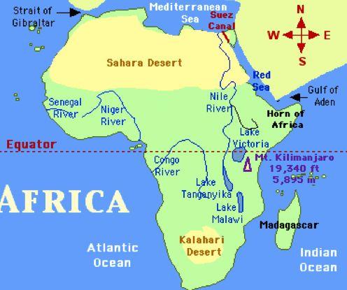Map Of Africa Kalahari Desert.Africa Desert Map Map Of Africa