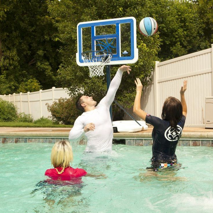 Lifetime 44 Inch Acrylic Fusion Poolside Basketball System - 1306