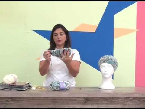 Boina em tricô com Cisne Mantra com Cristina Amaduro