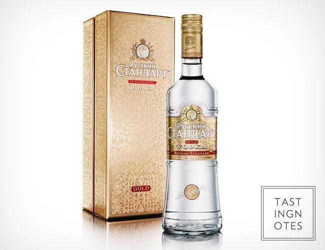top shelf vodka Russian Standard Gold Vodka. Vodka