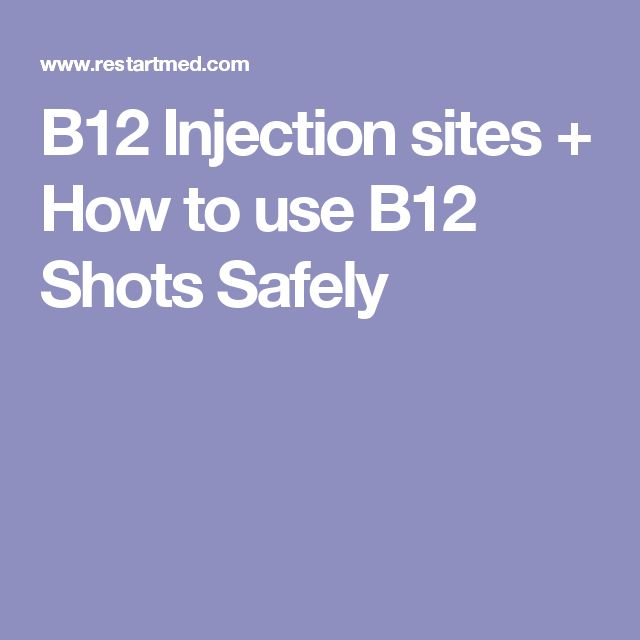 B12 Injection sites + How to use B12 Shots Safely