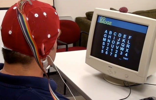 Turning brain waves into tweets    Are you using Twitter and looking for faster ways to update your followers with your utterly mundane status on what you are thinking? Adam Wilson from the University of Wisconsin has now created a brain-twitter interface – you think it, you tweet it.