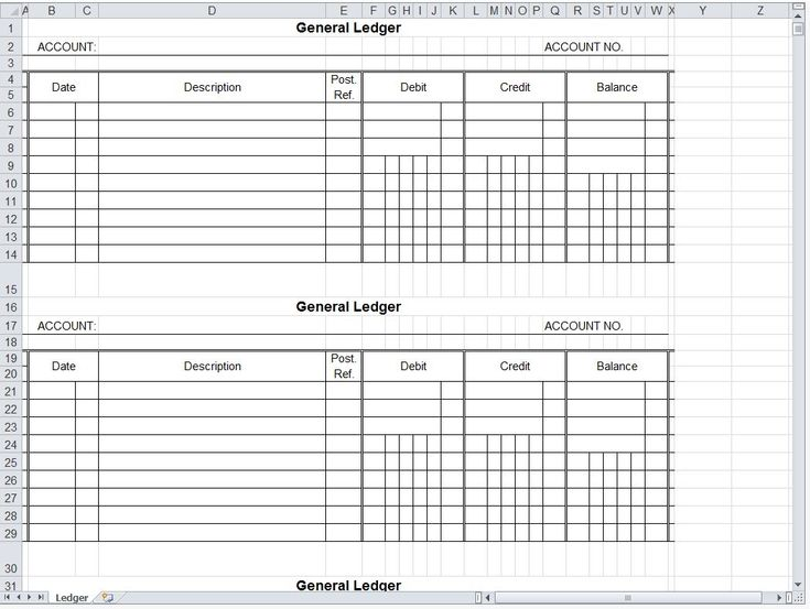 free general ledger forms