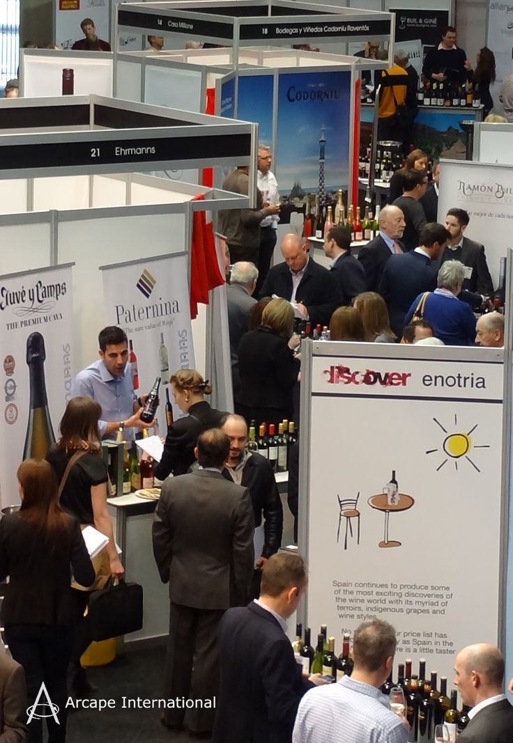 Plenty of activity at the Wines from Spain Trade Fair 2013 in Old Billingsgate in London in March 2013.