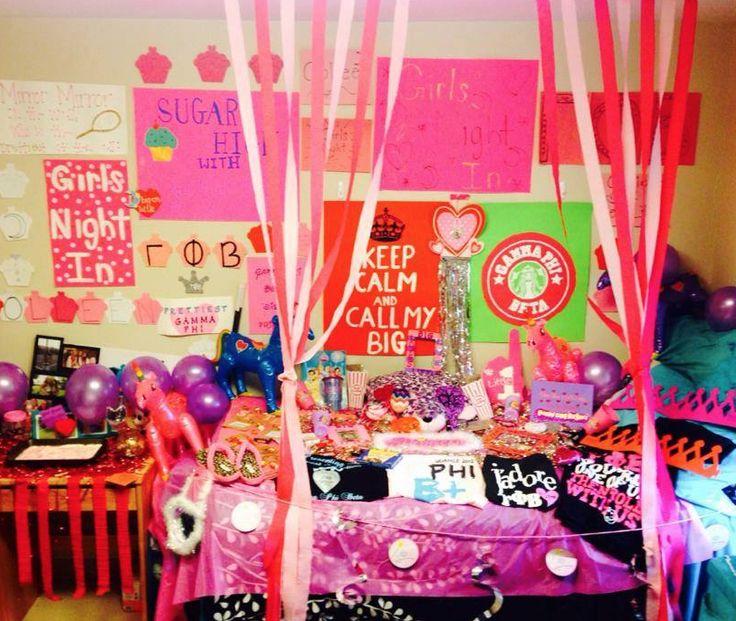 big little week room decorations   sorority sugar