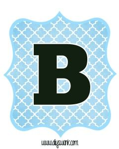 love the different colors and how easy this is to print and cut out!!!  Blue_Black Letter_B