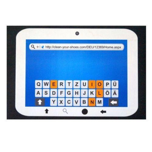 Design-Fussmatte-Fussmatte-Fussabtreter-68-x-46-cm-Motiv-Tablet-Tastatur-blau-weiss
