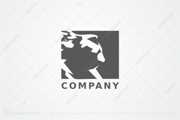 Logo for sale: Lion Face Logo