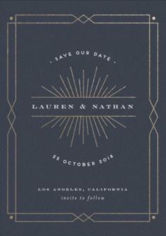 Save the date design layout invitation Art Deco