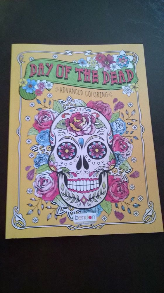 Day Of The Dead Advanced Coloring Book Tear And Share Pages By Bendon 30