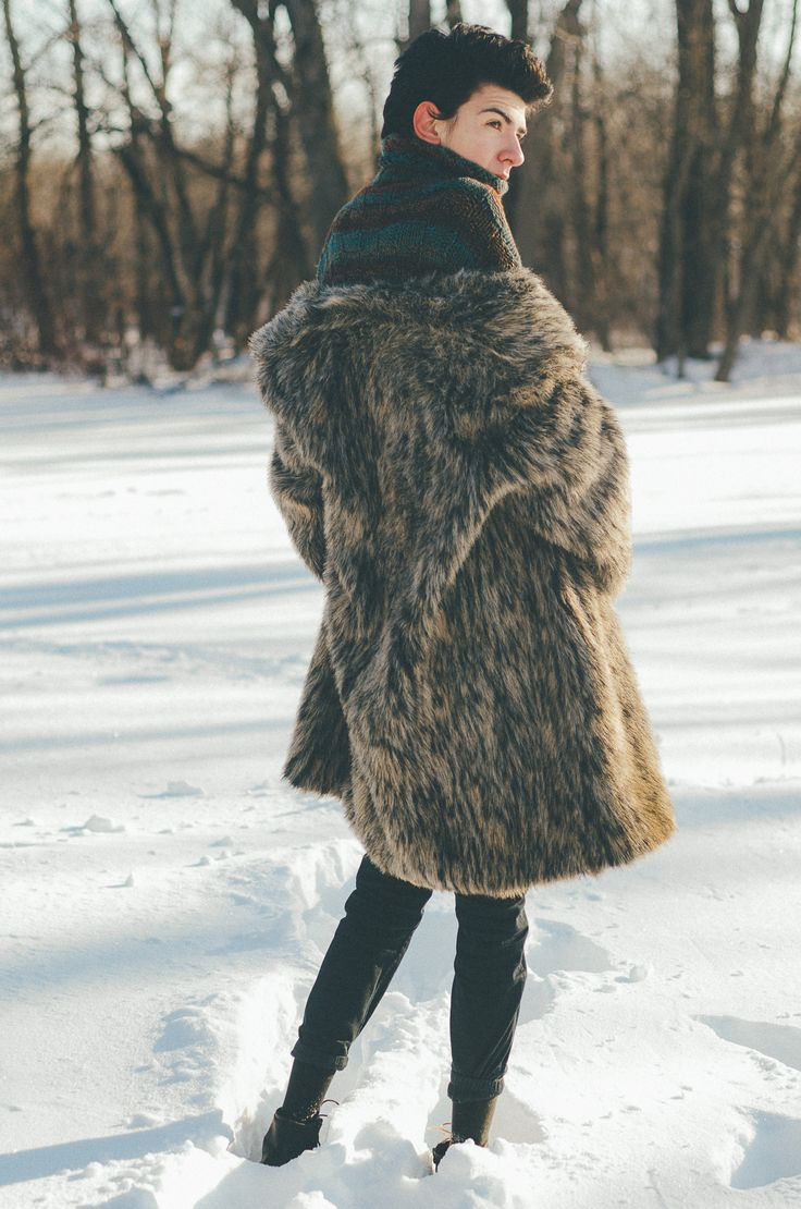 me model androgynous fur coat fur coat winter Carlo Capobianco carlo male   carlocapobiancomusic.tumblr.com