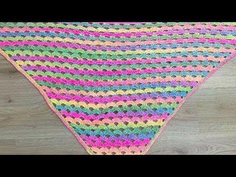 Schönes Dreieckstuch Schal Mit Wellenmuster Häkeln Einfach