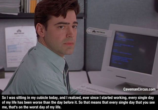 Film With Quote I Must I Must I Must Improve My Bust: 10+ Images About Office Space Memes On Pinterest