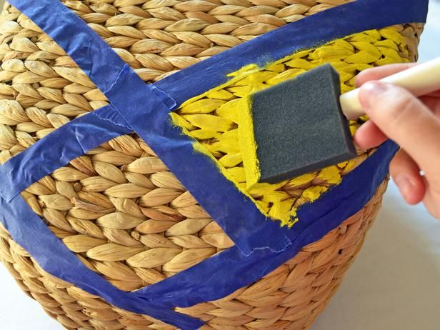Painted basket DIY