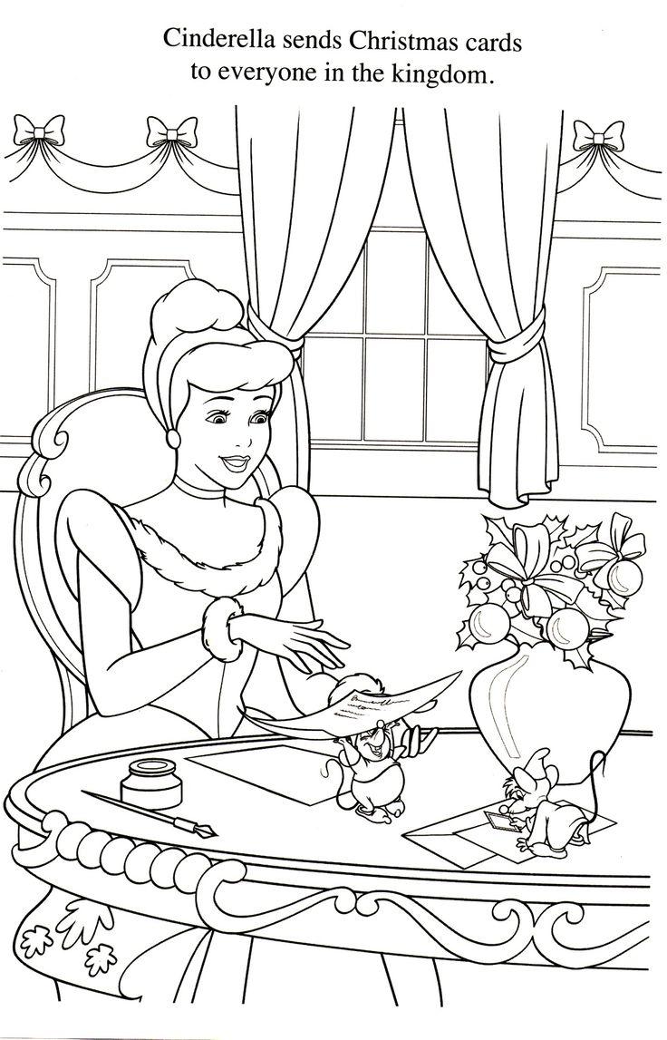 coloriage cendrillon Disney princess coloring pages