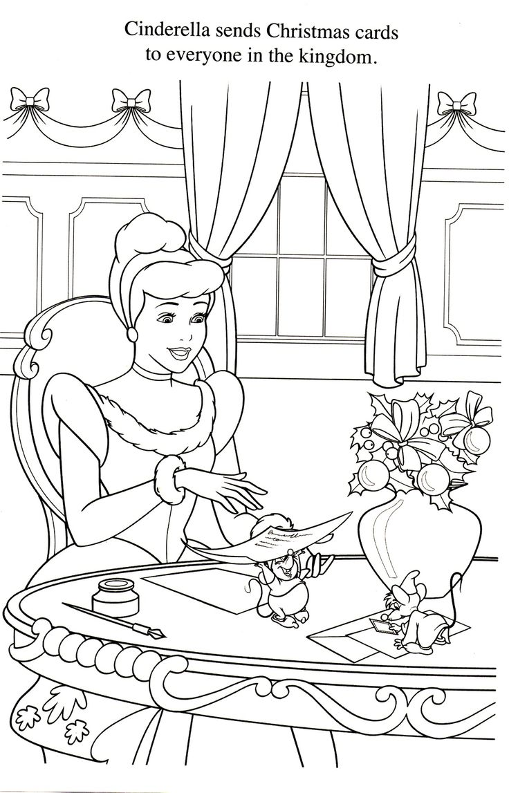 Coloriage Cendrillon Disney Coloring Pages Pinterest