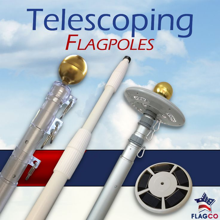 Display your flag anywhere! We recommend using Telescoping Flagpoles to display flags and banners at your next outdoor event or tailgating party. Easy to assemble and maintenance free, telescoping flagpoles are the ideal choice for anyone seeking effortless flag display.  #FlagCo #TelescopingFlagpoles #Tailgating #Event #Outdoor #Patriotic #Flags #Banners