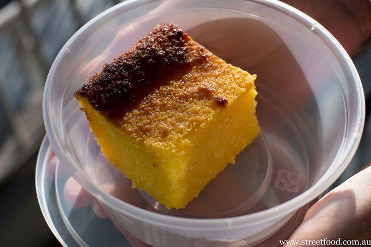 Malaysian sweeties - a malay style baked coconut and tapioca treat. Street Food: Kaki Lima Restaurant ~ Malaysian - Kensington