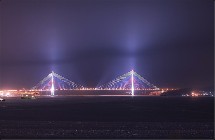 Russky Bridge, Vladivostok, Rusia.