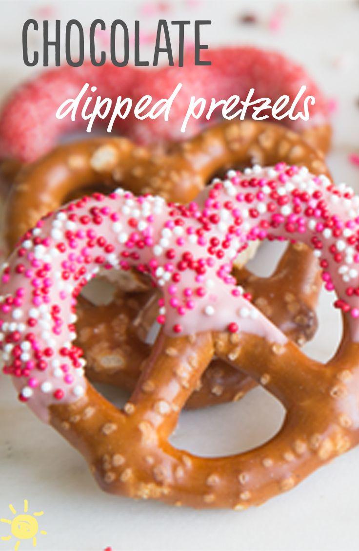 chocolate dipped pretzels valentinesday treat chocolate yogurt pretzels delicious healthy. Black Bedroom Furniture Sets. Home Design Ideas