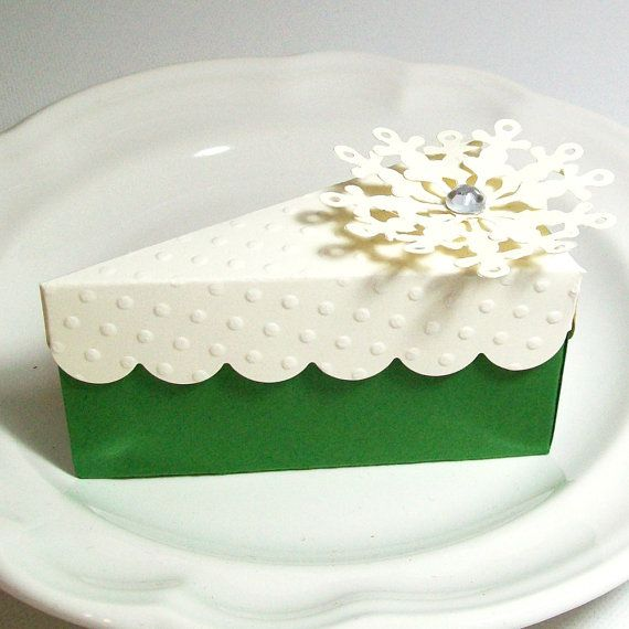 A Slice Of Cake Party Favor Box Green And By AcarrdianCards