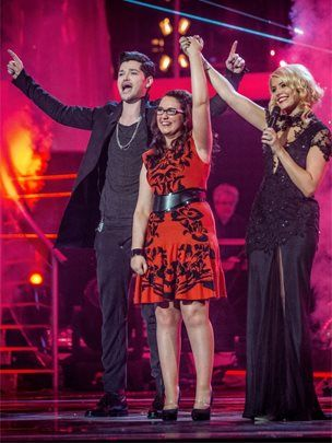 Danny O'Donoghue, Andrea Begley and Holly Willoughby at the final of The Voice - Andrea Begley: The Voice winner discusses her debut album.  The time constraints mean Begley's debut mostly consists of cover versions, with Bruce Springsteen's Dancing In The Dark and Jake Bugg's Lightning Bolt among the songs to receive an acoustic makeover.   But Begley also sings two original songs, including the title track, The Message.   The former law student, who has only 10% vision, talked to the BBC -